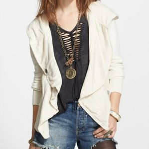 Free People 'Clementine' Lace Inset Hoodie